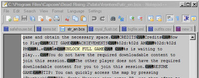 Dead rising 2 mod text with notepad plus plus (5)