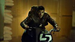Chase on motorbike