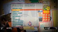 Dead rising case 0 pause menu