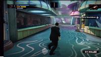 Uranus zone carnival games 3 alien shoot on left rocks on right - pink up ahead
