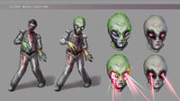 Dead rising 2 Off the Record concept art from main menu art page zombies laser eyes aliens (1)