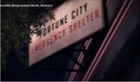 Dead Rising 2 Fortune City Emergency Shelter sign