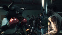 Dead rising 3 bull outfit costume in boxing ring with zombie