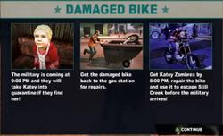 Dead rising case 0 damaged bike info