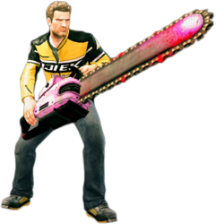 Dead rising giant pink chainsaw holding