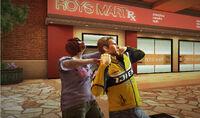 Royal flush plaza woman zombie near ROYS MART attack