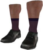 Dead rising Black Dress Shoes with Purple Socks