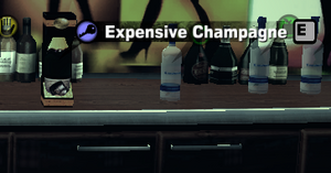 Expensive champagne