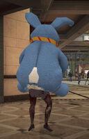 Dead rising Giant Stuffed Rabit on zombies head