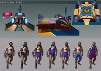 Dead rising 2 Off the Record concept art from main menu art page zombies wrestlers beginning game (1)