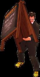 Dead rising ad board holding