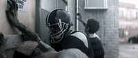 Dead rising football player zombie knocking at wrech o rama
