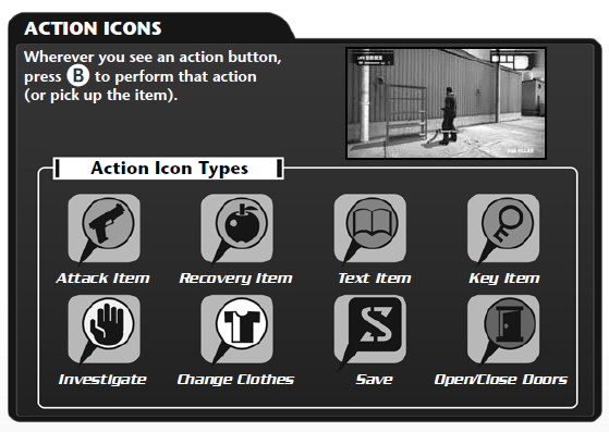 Dead rising Action icons