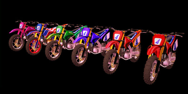 Dead rising 2 all painted motorbikes