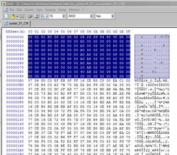 Highlight header in the original CM file