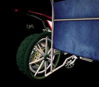 Dead rising wheelchair bike attachment