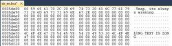 Hex editor visual studio long text is long