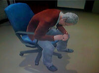 Dead Rising Russell Barnaby sitting in chair