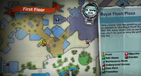 Dead rising off the record SCARE ZOMBIE ZOMBIES Royal Flush Plaza hallway to underground MAP