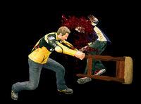 Dead rising bar chair hitting zombie (2)