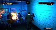 Dead rising off the record arena corridor explosion