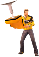 Dead rising yellow tall chair holding