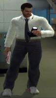 Cantonbury's Suit with White Dress Shirt, Black Tie, and Grey Dress Pants 6