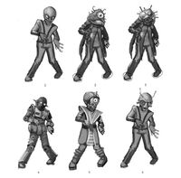 Dead rising 2 Off the Record concept art from main menu art page zombies laser eyes aliens (5)
