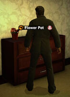 Dead rising in case west flower pot
