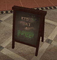 Dead rising Ad Board Kids Eat 4 Free