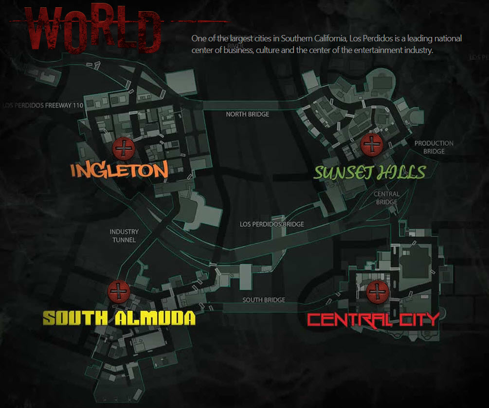 on dead rising 3 map locations