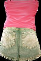 Dead rising Tube Top Mini Skirt 2 back