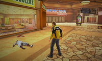 Dead rising off the record SCARE ZOMBIE ZOMBIES Royal Flush Plaza outside of Stylin' Toddlers