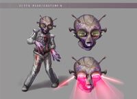 Dead rising 2 Off the Record concept art from main menu art page zombies laser eyes aliens (4)