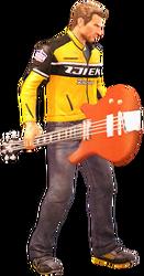 Dead rising bass guitar holding