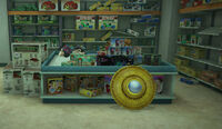 Dead rising Children's Castle toy ufo and slappy mask