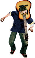 Dead rising Acoustic Guitar on head