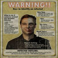 Dead rising poster warning how to identify infected poster