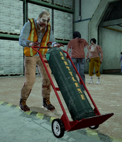 Dead rising zombie with dolly