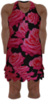 Dead rising Black Sundress with Red Roses