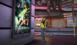 Dead rising Laser eyes poster chuck looking at uranus zone