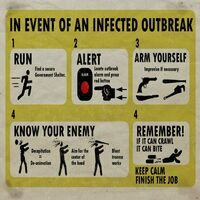 Dead rising poster in event of an infected outbreak
