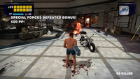 Dead rising overtime mode helicopter drone shot