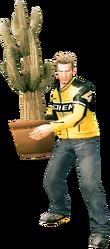 Dead rising cactus plant holding