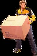 Dead rising cardboard box holding