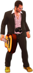 Dead rising acoustic guitar holding