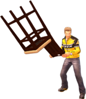 Dead rising fancy tall chair holding