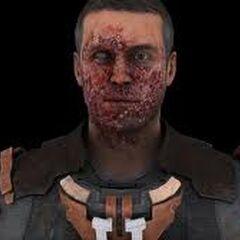 Рендер лица Айзека, после того как его раз ела кислота.