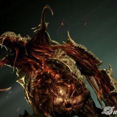 Концепт-арт, таким этого некроморфа можно увидеть в игре