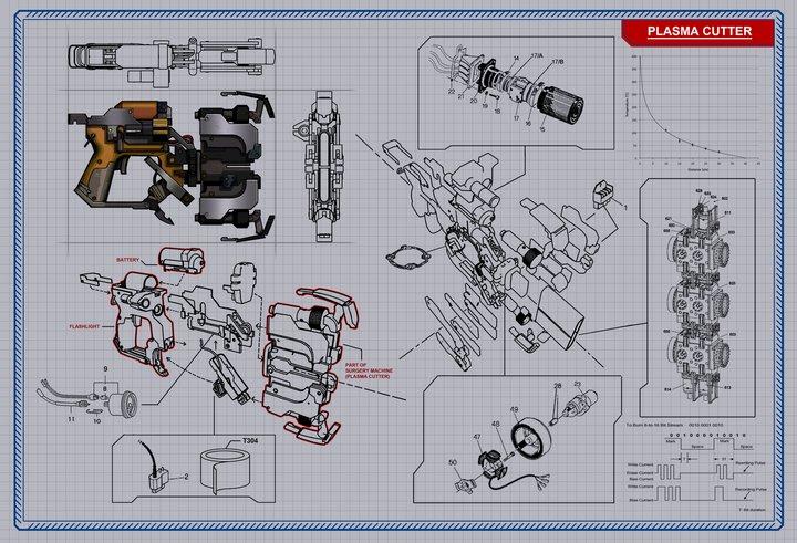 Image - DS2 - Plasma Cutter Schematics.jpg | Dead Space Wiki ... on
